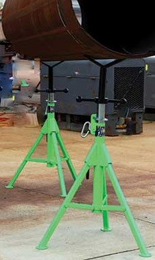Pipe Jack Stands >> Mathey Dearman Sturdi Jack Ii Folding Pipe Stand Rt S Wire And Cable